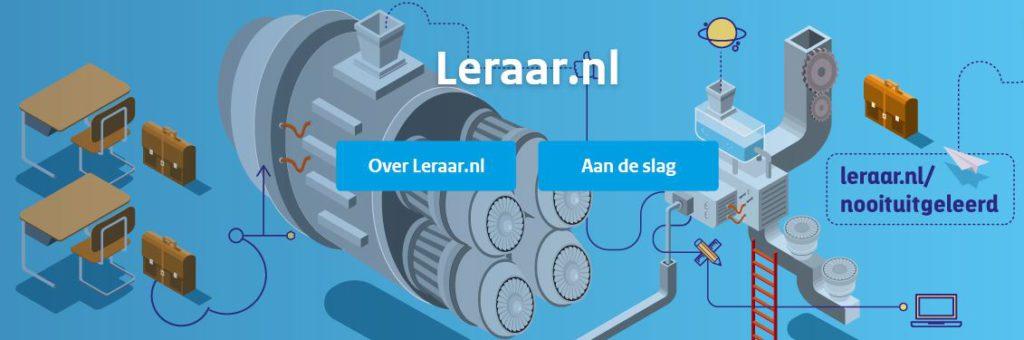 Afbeelding gedeelte site leraar.nl