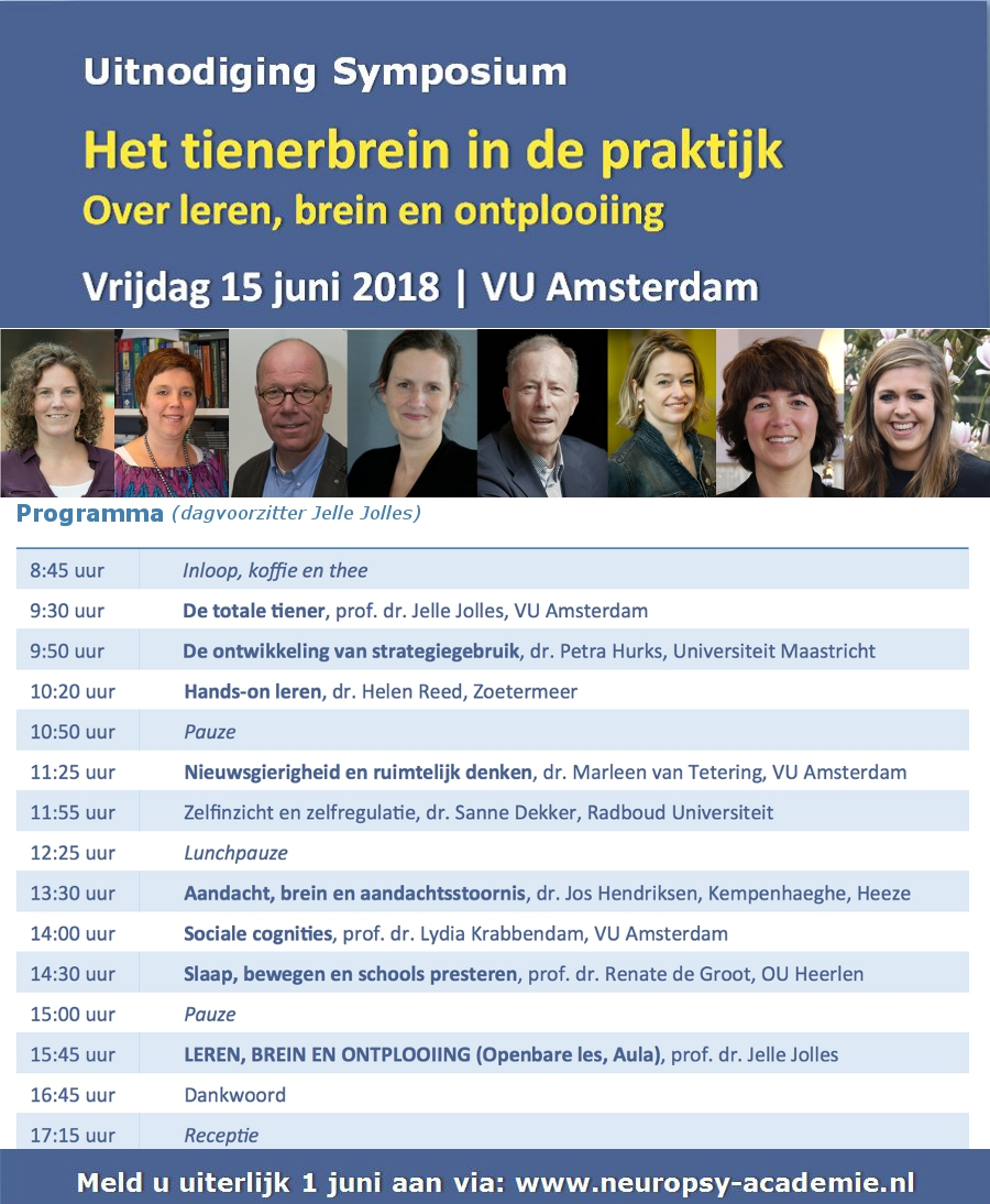 Inschrijving symposium 15 juni 2018 geopend