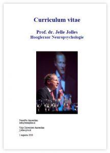 Afb. curriculum vitae Jelle Jolles