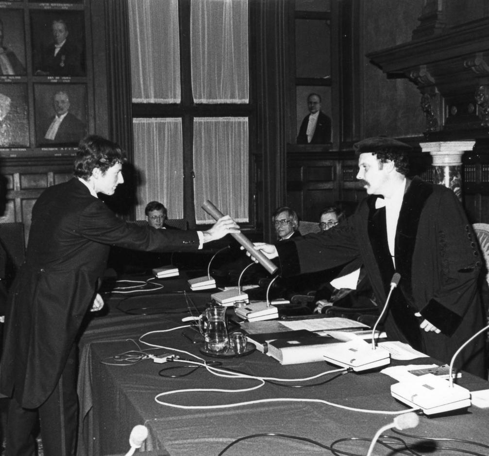 Afb promotie prof. dr. Jelle Jolles, 1980