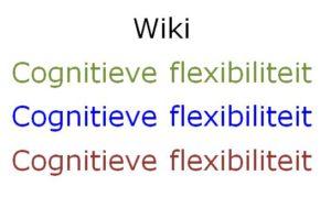 Afbeelding Wiki Cognitieve Flexibiliteit