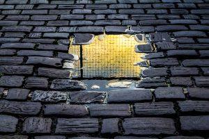 Afbeelding van een oneffen pad