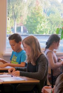 Afb tieners in klas